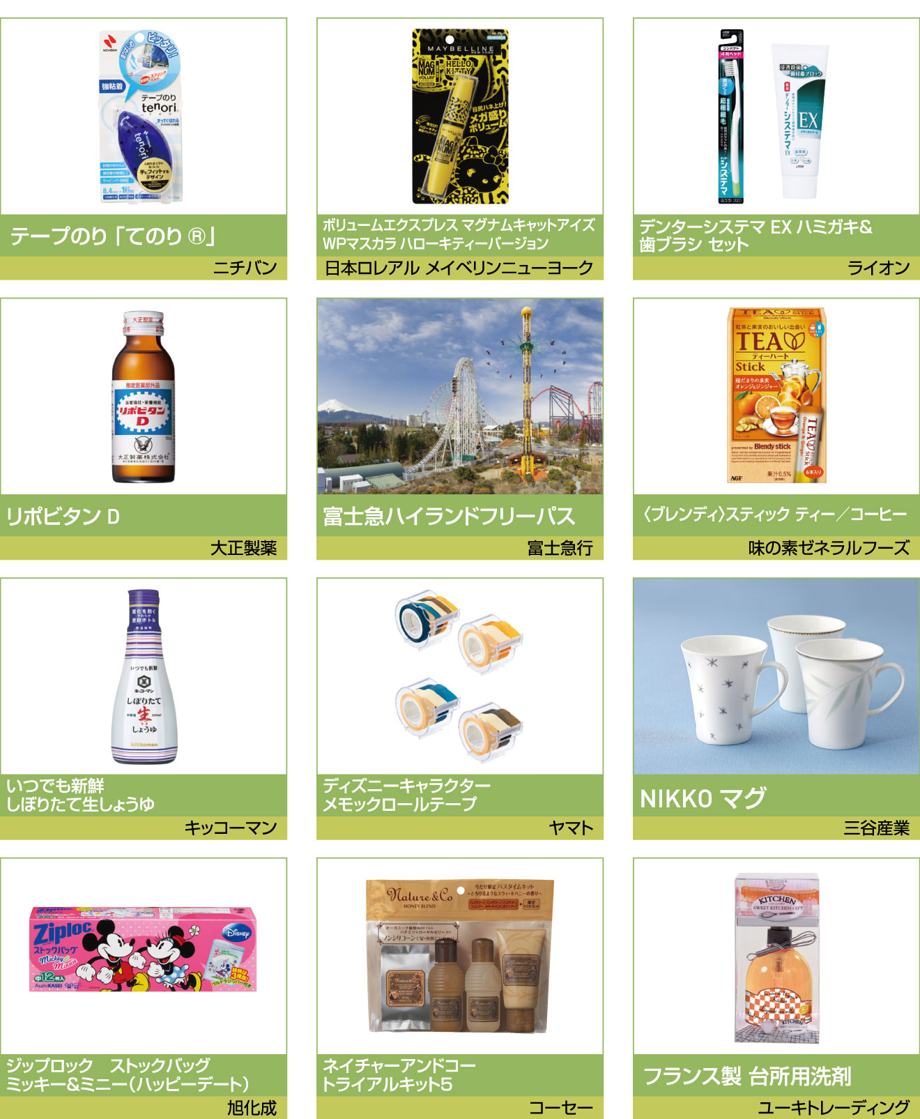 福引商品 O賞